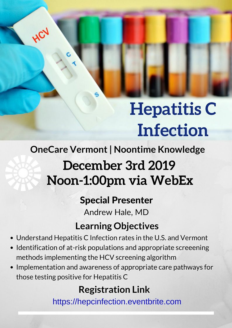 Hep C Noontime Knowledge event poster