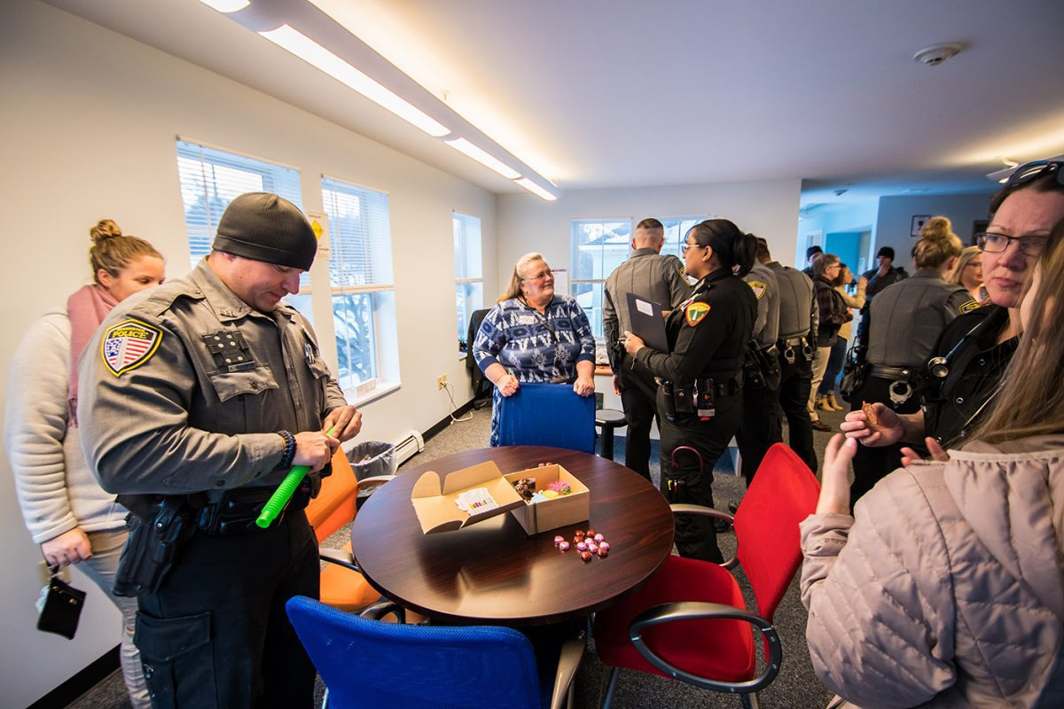 Guests interact with therapeutic tools on display at PUCK Open House January 2020