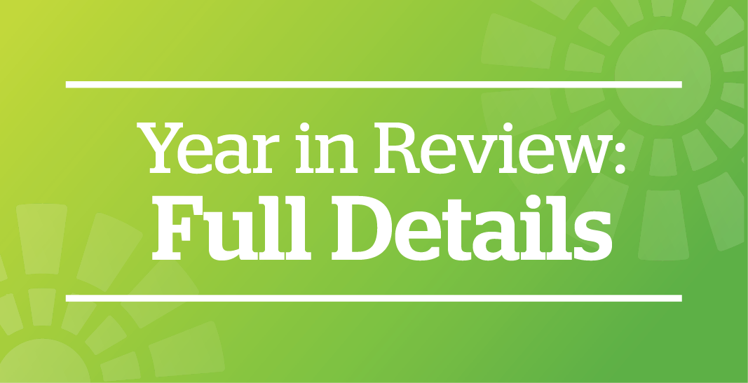 Year in Review Full Details