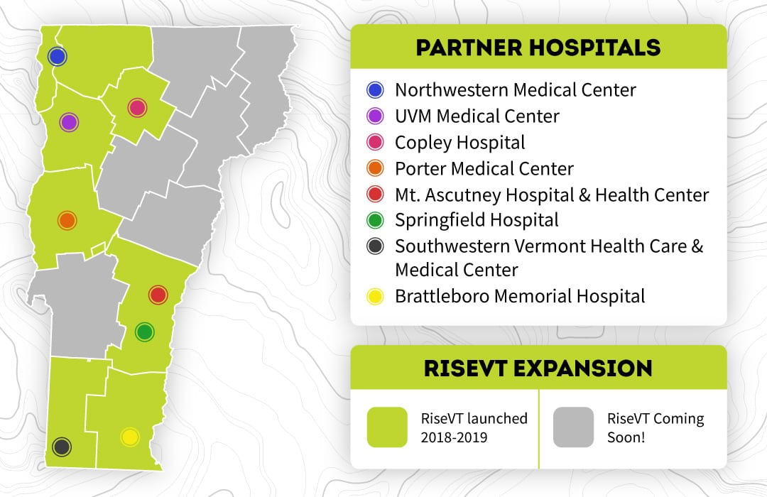 7 Health Service Areas now have RiseVT